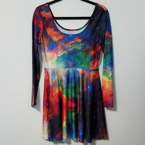 Dresses & Skirts - Rad outer space galaxy skater dress, XL